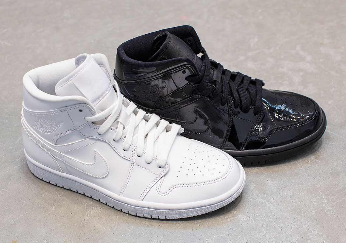 Air Jordan 1 Mid Patent Leather